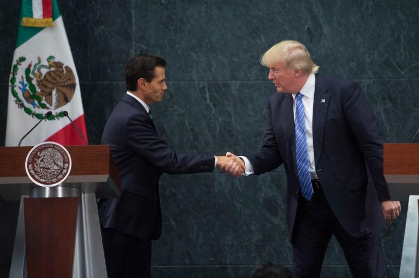 Enrique Pena Nieto przyjął Donalda Trumpa, jakby ten już był prezydentem USA /Getty Images