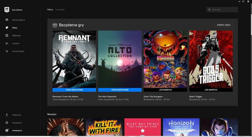 Epic Games Store /INTERIA.PL