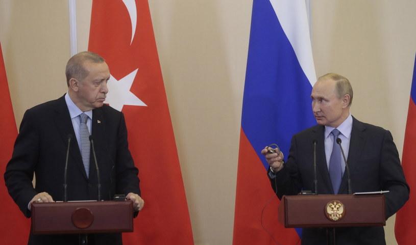 Erdogan i Putin w Rosji /SERGEI CHIRIKOV /PAP/EPA