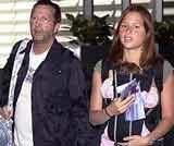 Eric Clapton z żoną i córką Julie Rose /