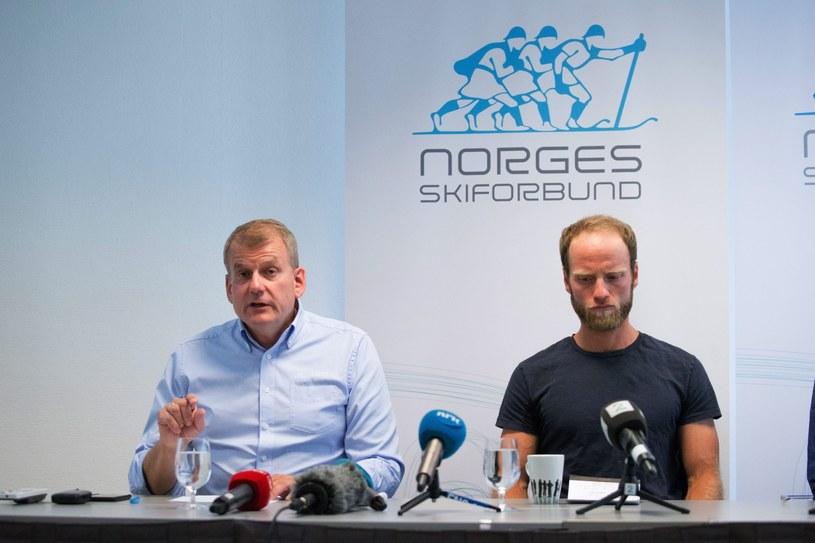 Erik Roeste (z lewej) i Martin Johnsrud Sundby /PAP/EPA