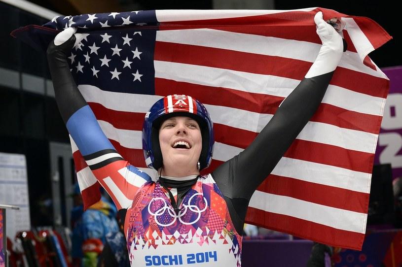 Erin Hamlin podczas igrzysk w Soczi /AFP