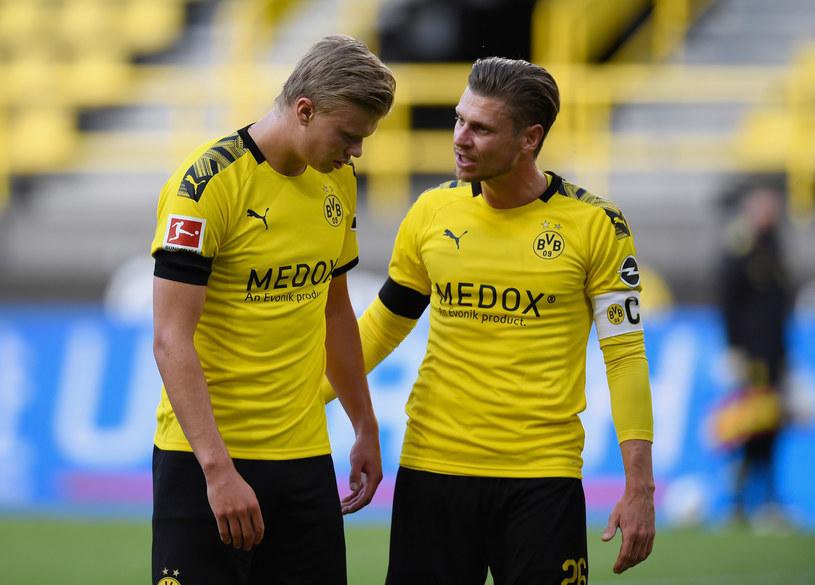 Erling Haaland i Łukasz Piszczek /Alexandre Simoes /Getty Images