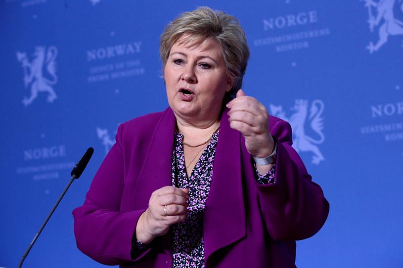 Erna Solberg /NTB SCANPIX/Reuters /Agencja FORUM