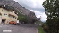Erupcja błota w alpejskiej miejscowości