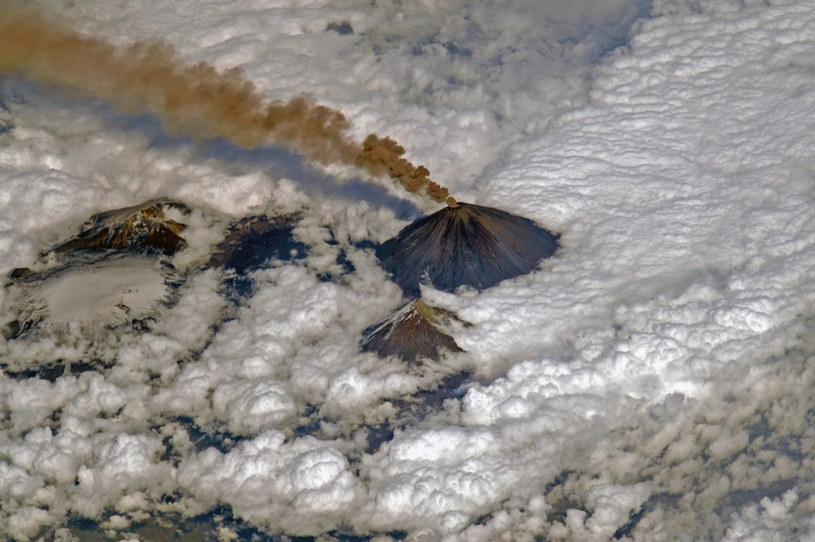 Erupcja rosyjskiego wulkanu widziana z kosmosu, zdj. ilustracyjne /CEN/@roscosmos /East News
