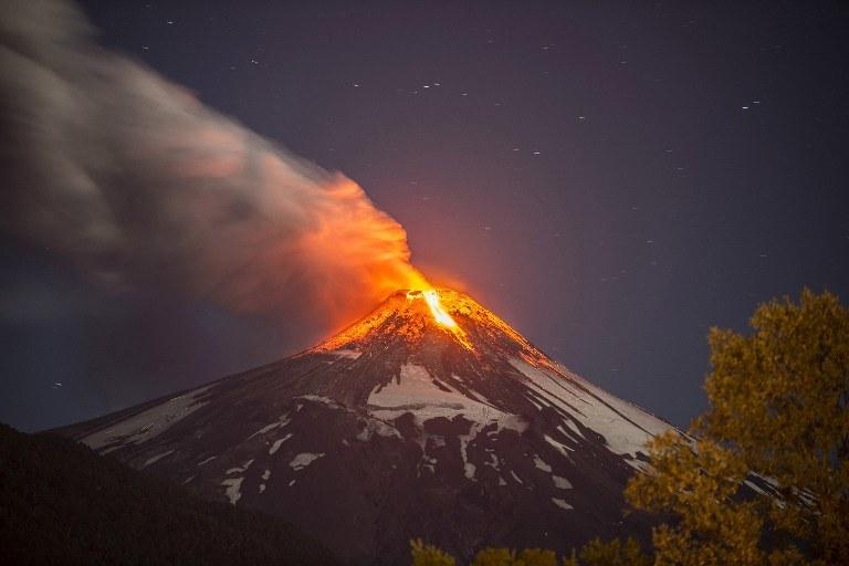 Erupcja Villariki /AFP