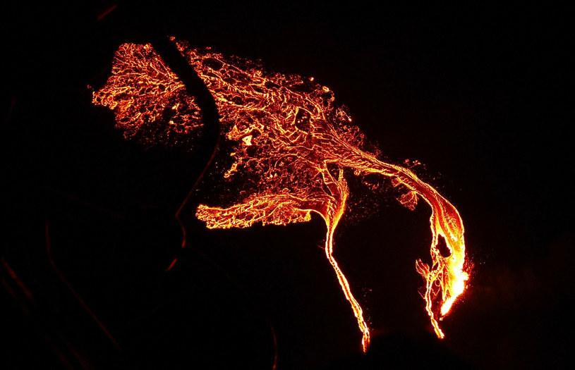 Erupcja wulkanu Fagradalsfjall /AFP PHOTO / Icelandic Coast Guard /East News