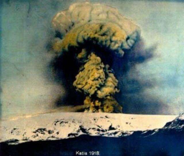 Erupcja wulkanu Katla w 1918 roku /Wikipedia