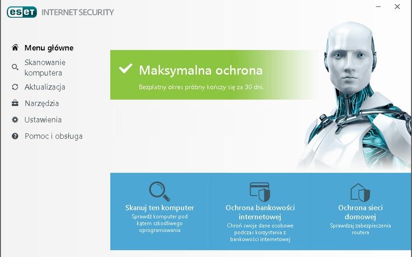 ESET Internet Security - menu główne /INTERIA.PL