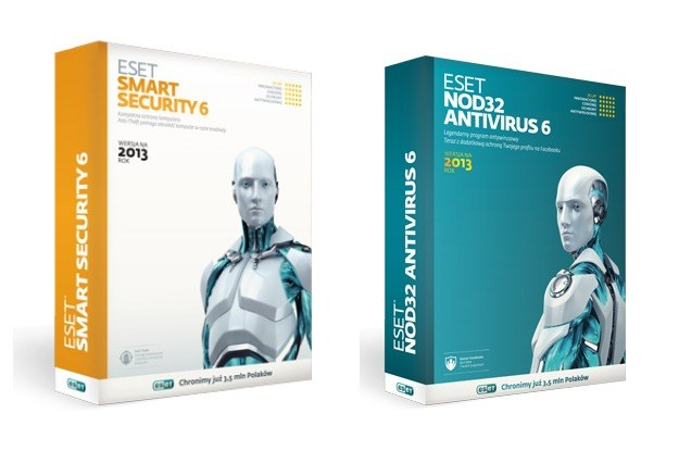 ESET Smart Security 6 oraz system antywirusowy i antyspyware ESET NOD32 Antivirus 6 /INTERIA.PL