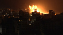 Eskalacja konfliktu w Strefie Gazy. Tak wyglądał izraelski nalot
