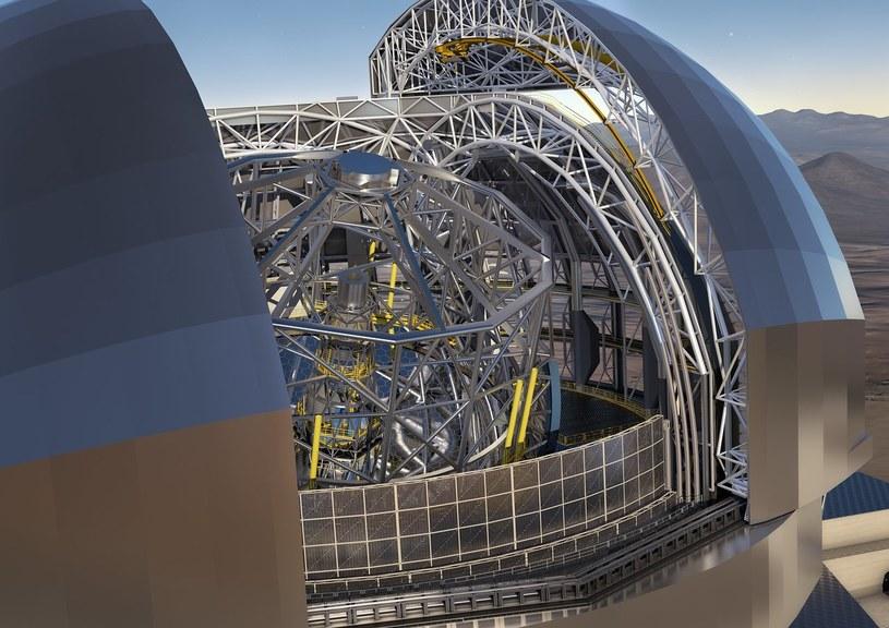 ESO podpisało największy w historii astronomii naziemnej kontrakt na kopułę i główną strukturę teleskopu E-ELT. Fot. ESO /materiały prasowe