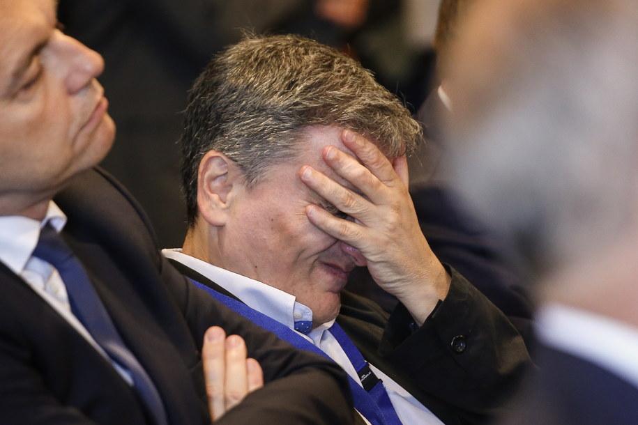 Euclid Tsakalotos - grecki minister finansów /JULIEN WARNAND /PAP/EPA