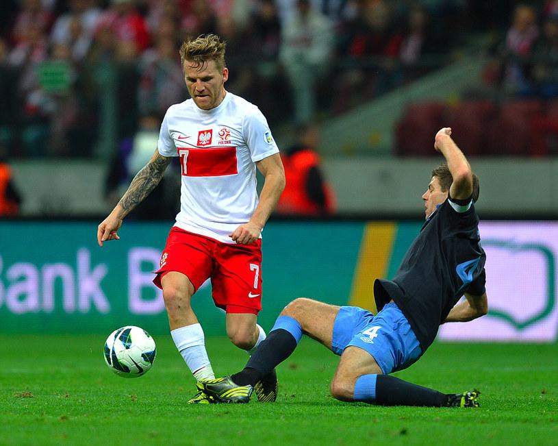 Eugen Polanski w meczu z Anglią /AFP