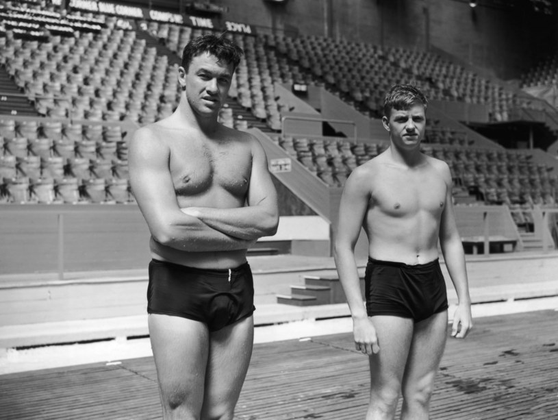 Eugene Rogers i Bill Dudley, 1948 Londyn /Getty Images