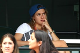 Eugenie Bouchard ogląda mecz Grigora Dimitrowa w Miami