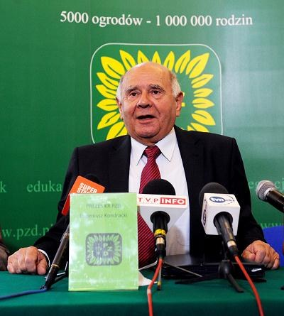 Eugeniusz Kondracki, prezes Polskiego Związku Działkowców /PAP