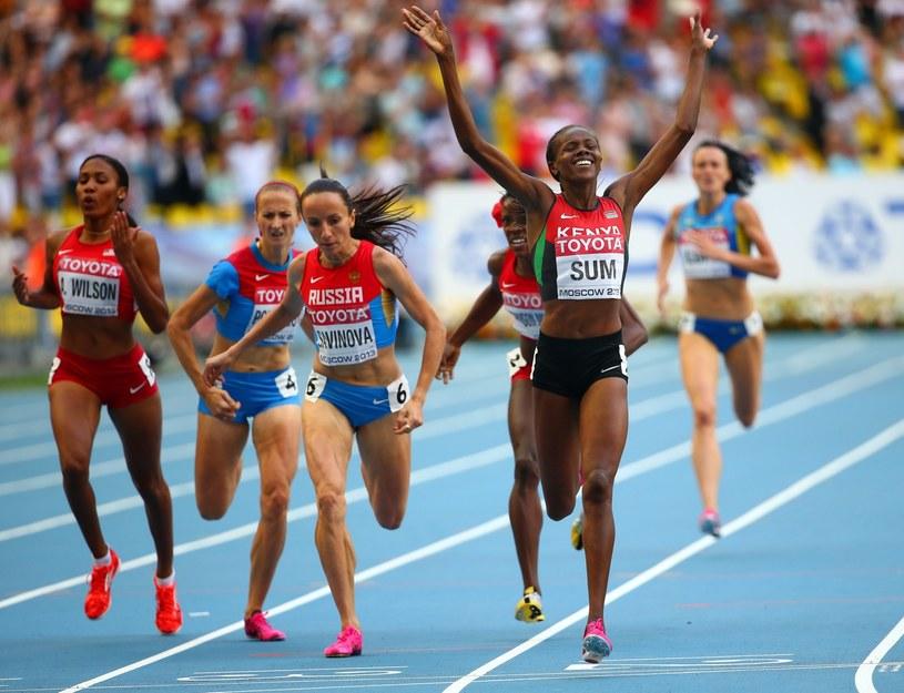 Eunice Jepkoech Sum wygrała bieg na 800 m /PAP/EPA