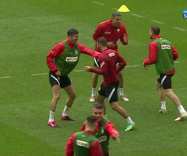 Euro 2020. Boks na treningu! Lewandowski bił się z Linettym (POLSAT SPORT). Wideo