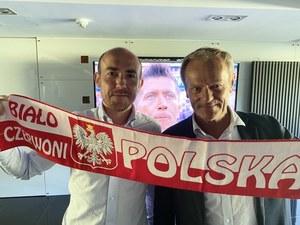 Euro 2020. Borys Budka i Donald Tusk wspólnie obejrzeli mecz Polaków
