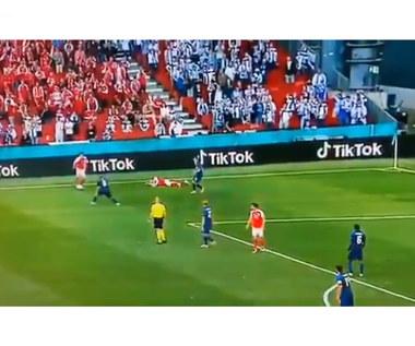 Euro 2020. Dania - Finlandia, Christian Eriksen stracił przytomność, był reanimowany. Wideo