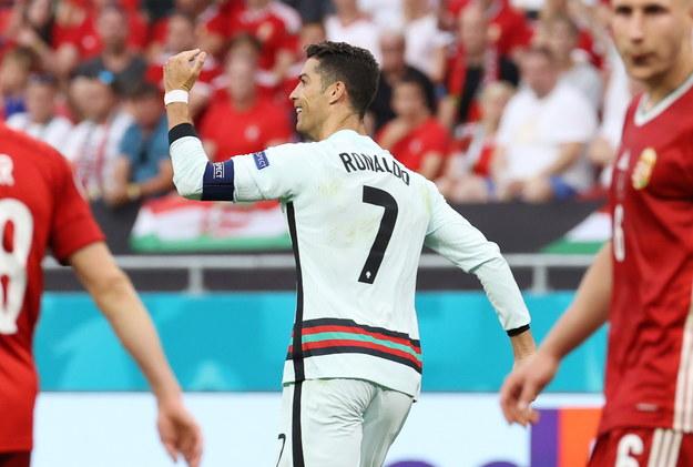 Euro 2020. Mecz Węgry - Portugalia. Cristiano Ronaldo /Bernadett Szabo / POOL /PAP/EPA