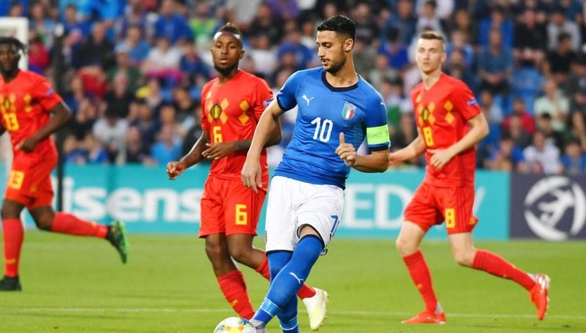 Euro U-21. Belgia - Włochy 1-3. Włosi drudzy w tabeli grupy A