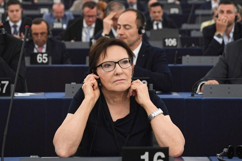 Eurodeputowana Ewa Kopacz w Parlamencie Europejskim w Strasburgu / Radek Pietruszka   /PAP/EPA