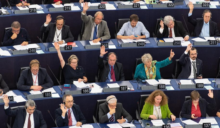 Eurodeputowani. Zdjęcie ilustracyjne /Patrick Seeger  /PAP/EPA