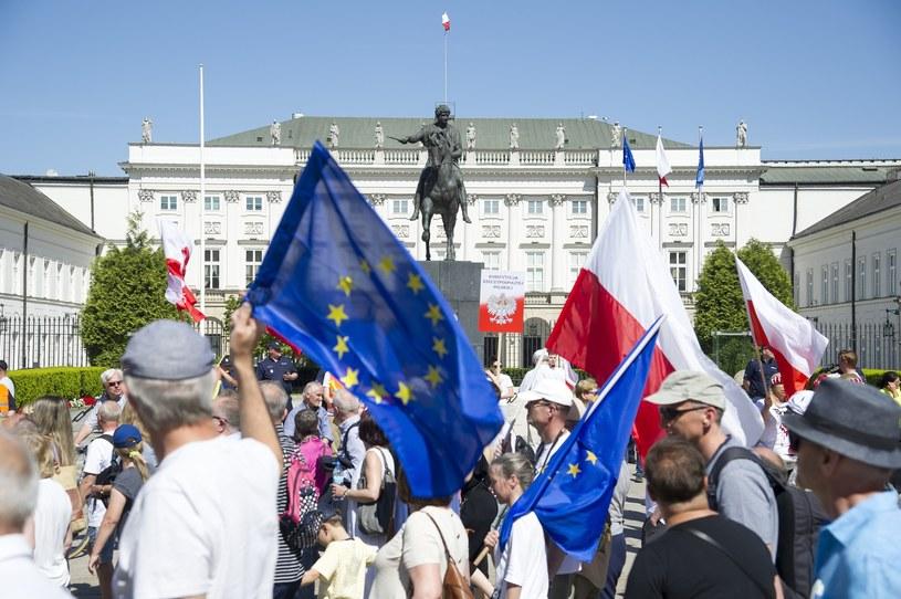Euroentuzjaści w Warszawie /Wojciech Stróżyk /East News