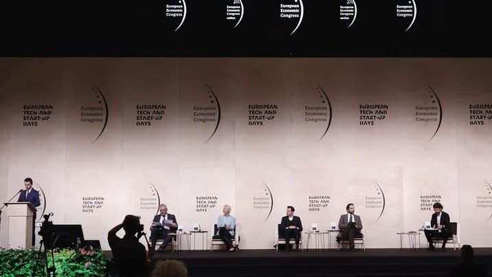 """Europejski Kongres Gospodarczy, debata """"Pojutrze przewidzieć biznesowy świat"""". /INTERIA.PL"""