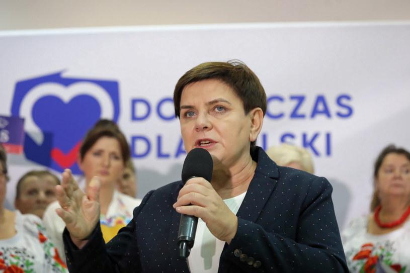 Europoseł PiS Beata Szydło podczas spotkania wyborczego / Tomasz Gzell    /PAP