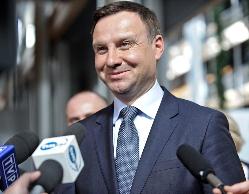 Europoseł PiS i kandydat na prezydenta Andrzej Duda na konferencji prasowej /Marcin Obara /PAP