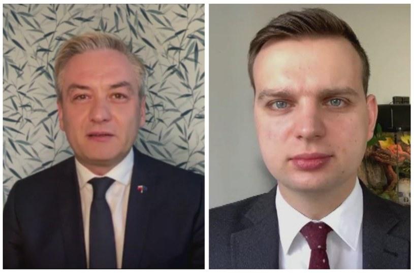 Europoseł Robert Biedroń i poseł Jakub Kulesza /Polsat News
