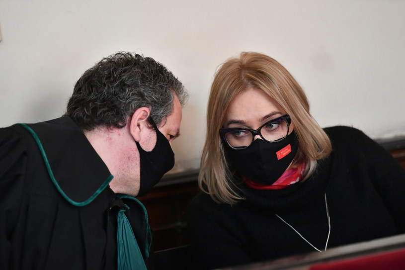 Europosłanka Koalicji Europejskiej Magdalena Adamowicz na sali Sądu Rejonowego w Gdańsku / Adam Warżawa    /PAP