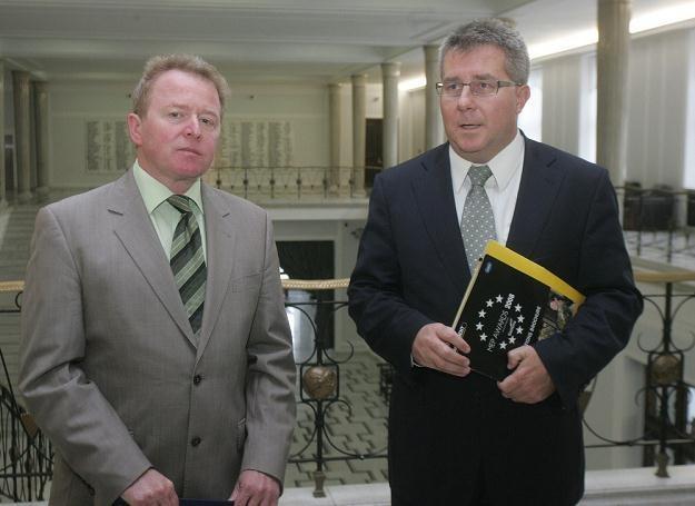 Europosłowie Janusz Wojciechowski i Ryszard Czarnecki, fot. Witold Rozbicki /Reporter