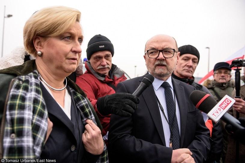 Europoslowie Ryszard Legutko i Anna Fotyga /Tomasz Urbanek /East News
