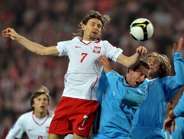 Euzebiusz Smolarek ma na koncie 47 występów w reprezentacji Polski /AFP