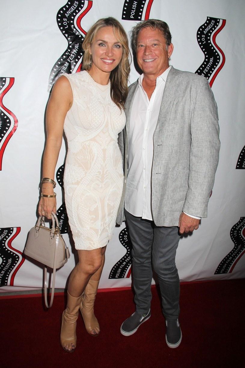 Eva Halina Rich z mężem Chrisem /Martin Sloan /Reporter