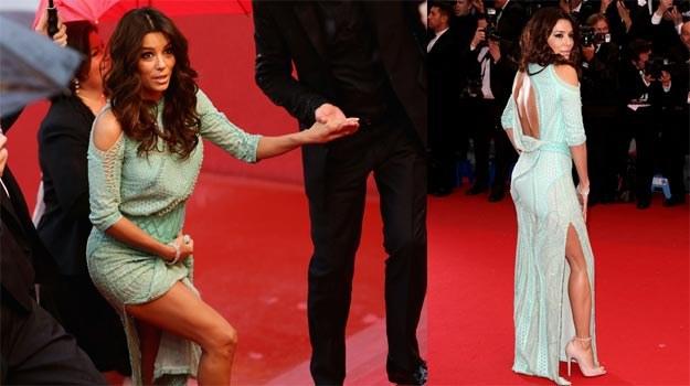 Eva Longoria podczas pechowego wieczoru w Cannes /Getty Images/Flash Press Media