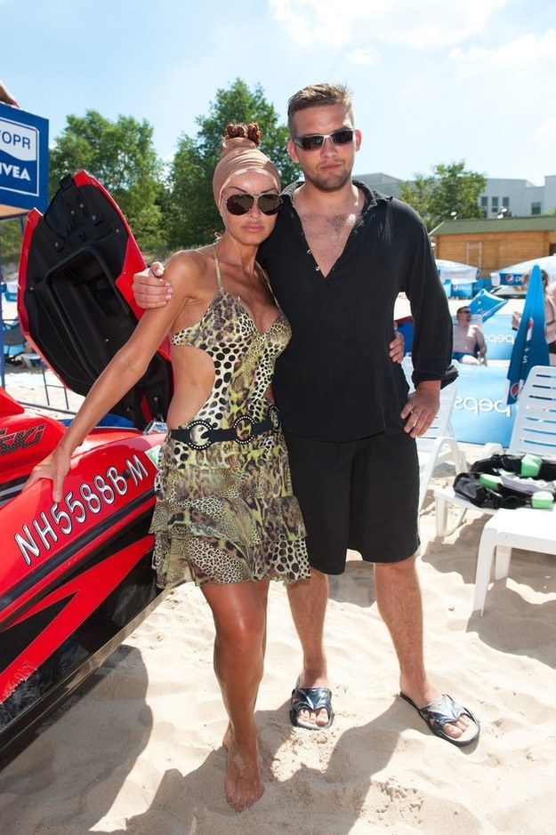 Eva Minge z synem /East News