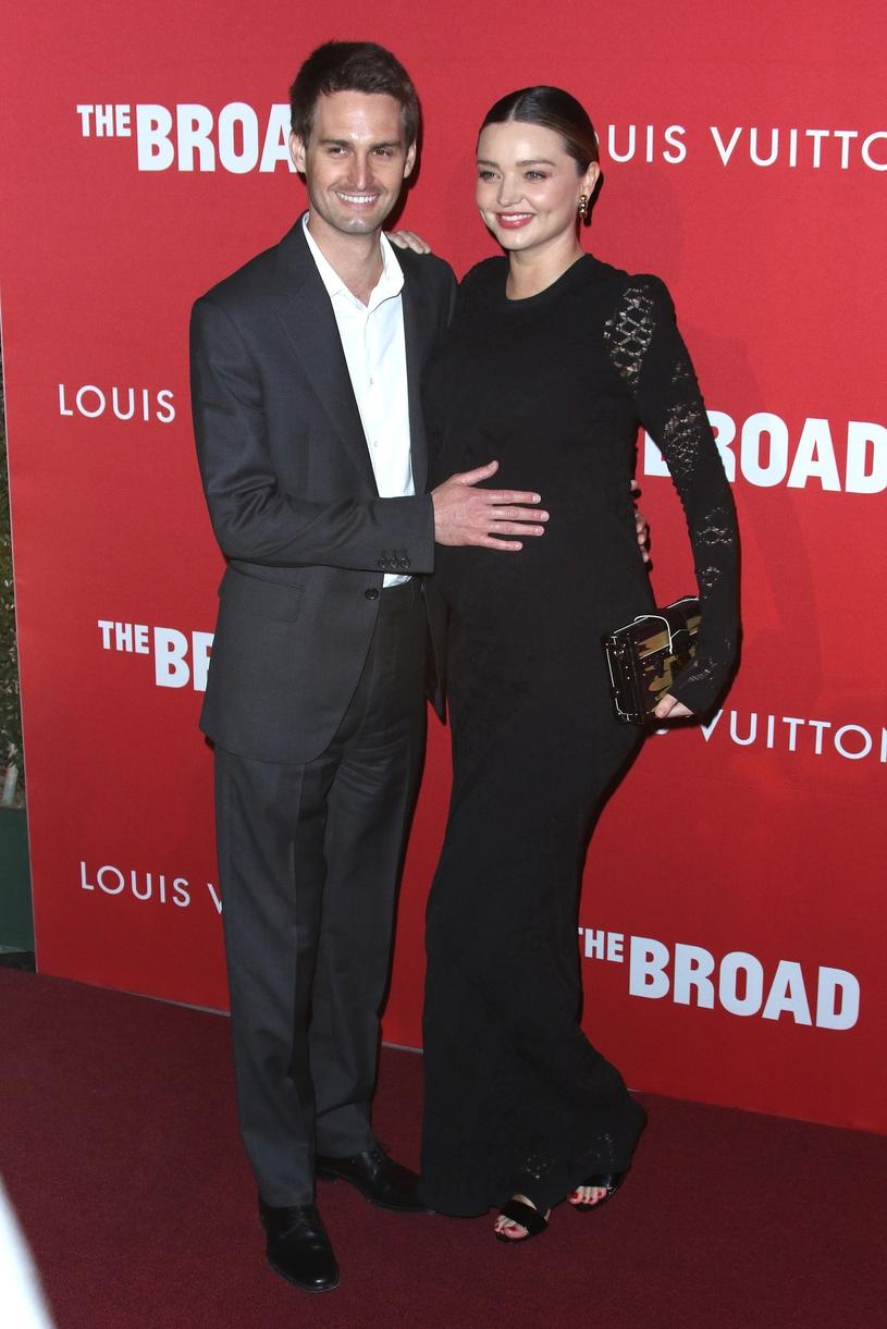 Evan Spiegel i Miranda Kerr /East News