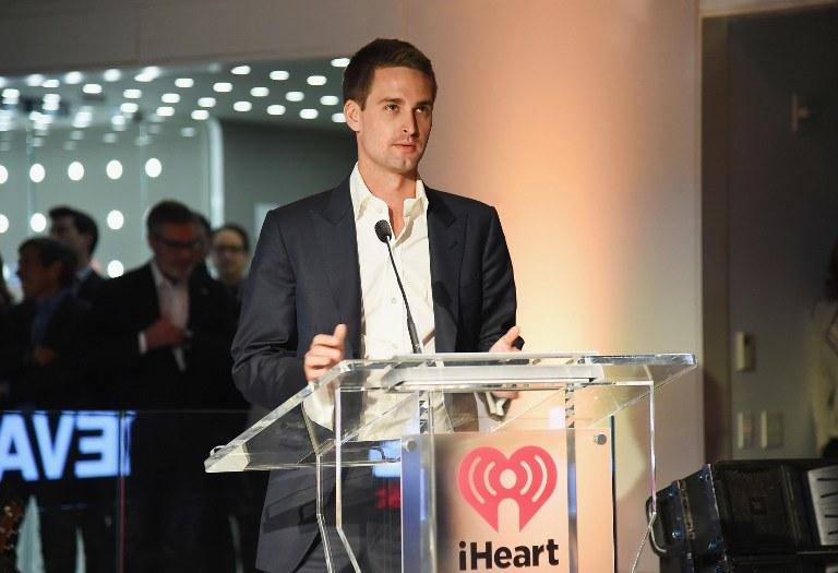 Evan Spiegel, współtwórca Snapchata /AFP