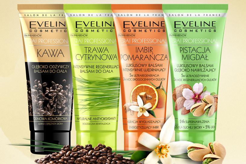 Eveline Cosmetics, Balsamy do ciała z serii SPA! Professional /materiały prasowe