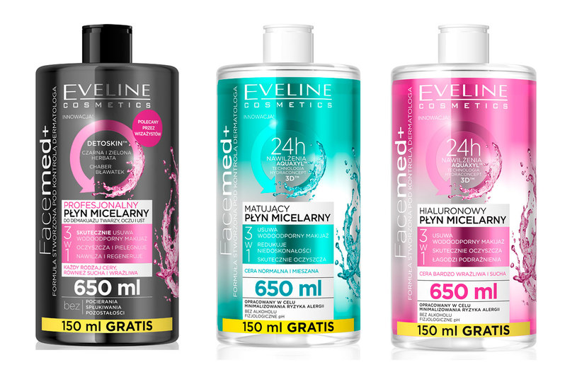 Eveline Cosmetics: Płyny micelarne Facemed+ /materiały prasowe