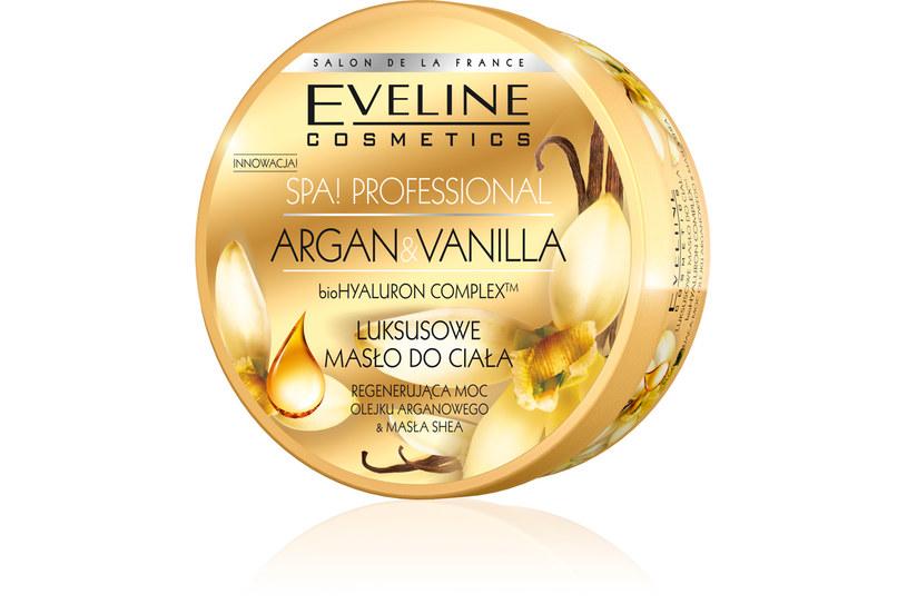 Eveline: Luksusowe masło do ciała  ARGAN&VANILLA /Styl.pl/materiały prasowe