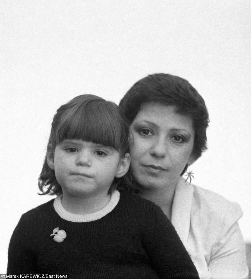 Ewa Bem z małą Pamelą, 1982 r. /Marek Karewicz /East News