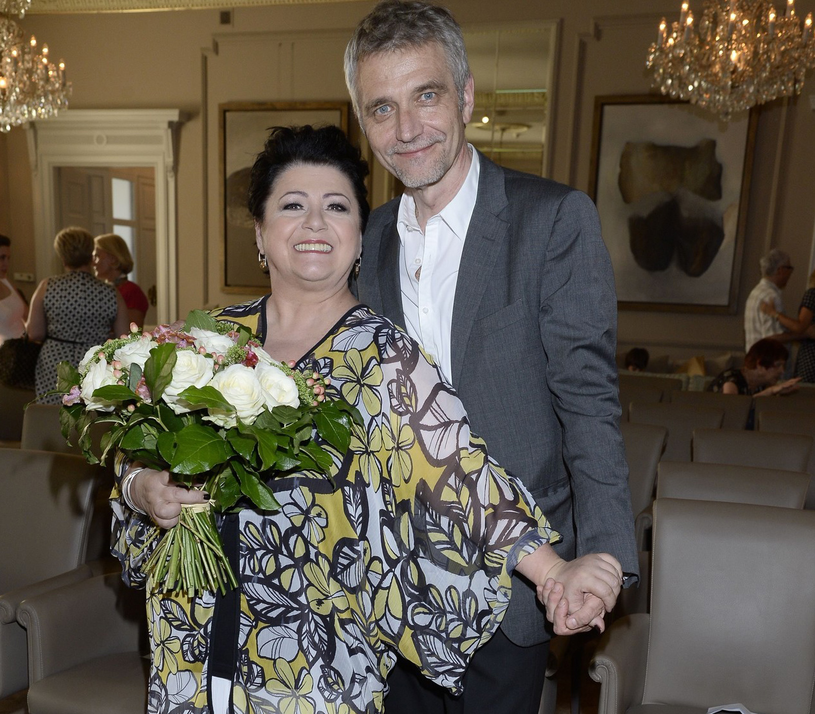 Ewa Bem z mężem /Tricolors /East News