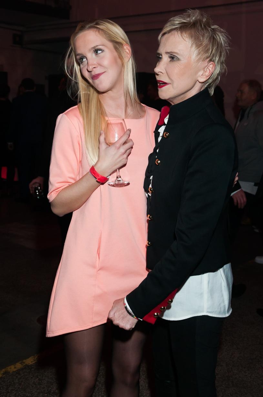 Ewa Błaszczyk i Marianna Janczarska podczas gali z okazji 10-lecia Warszawskiej Szkoły Filmowej /East News